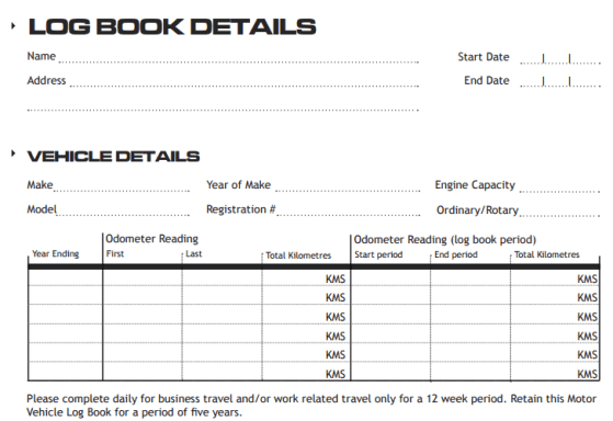 Vehicle Log Book Templates  333