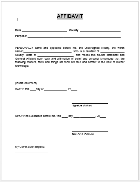 6 witness statement templates