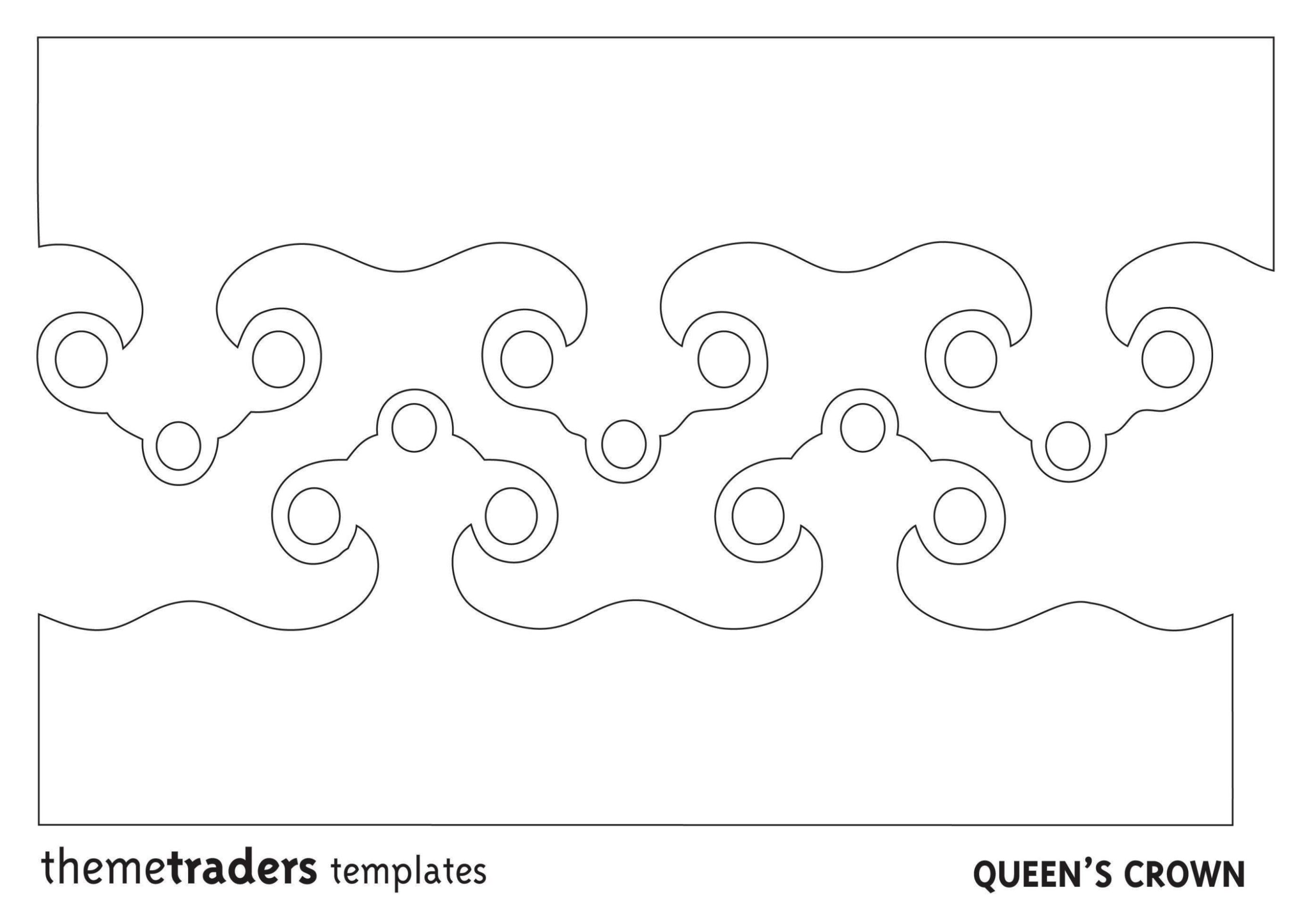 Crown Template For Cake