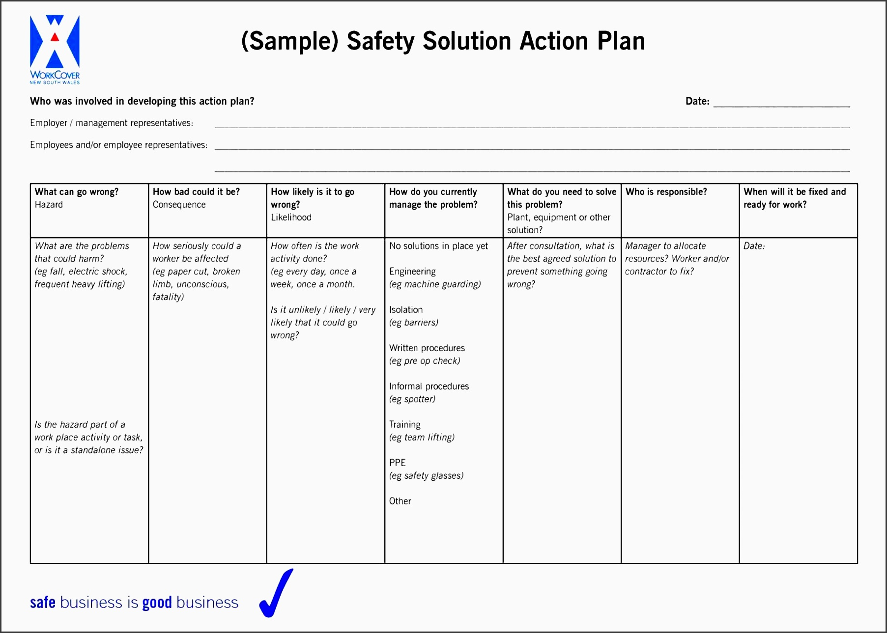 5 Action Plan For Employees