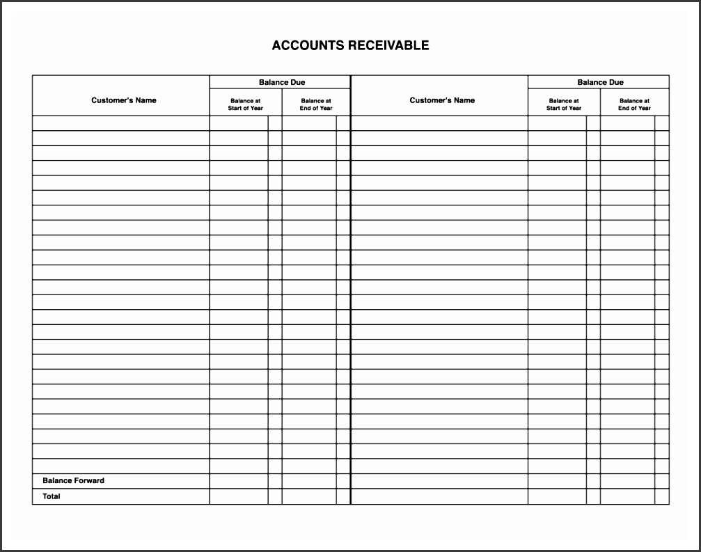 bookkeeping ledger forms free