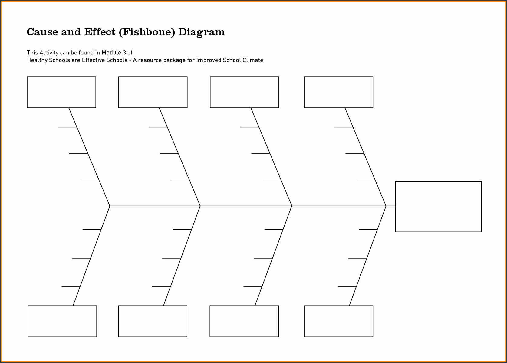 6 Cause And Effect Diagram Template