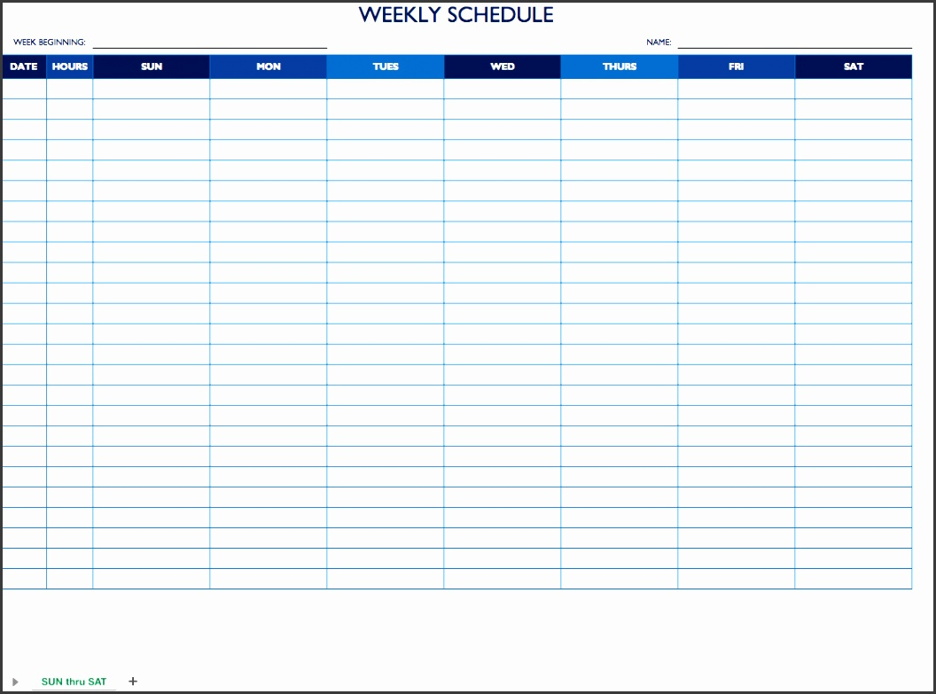 9 Daily Work Schedule Template In Ms Word