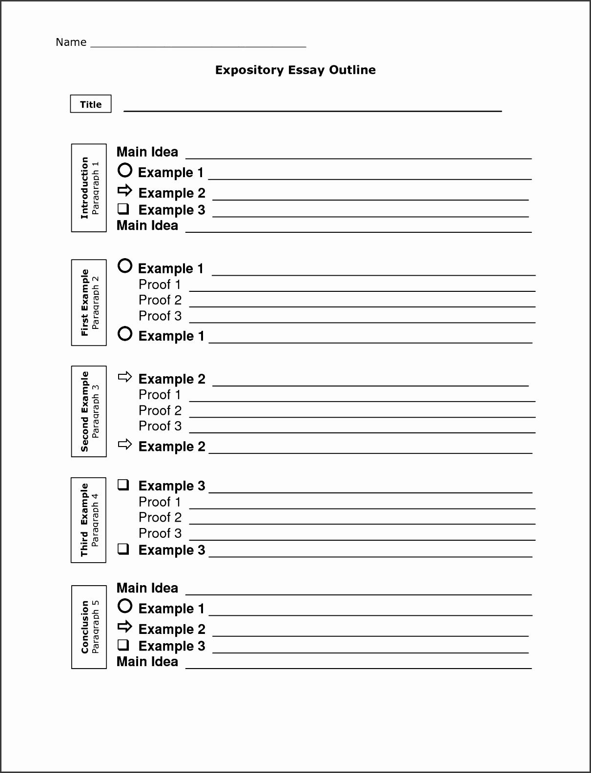 5 Editable Essay Outline Template