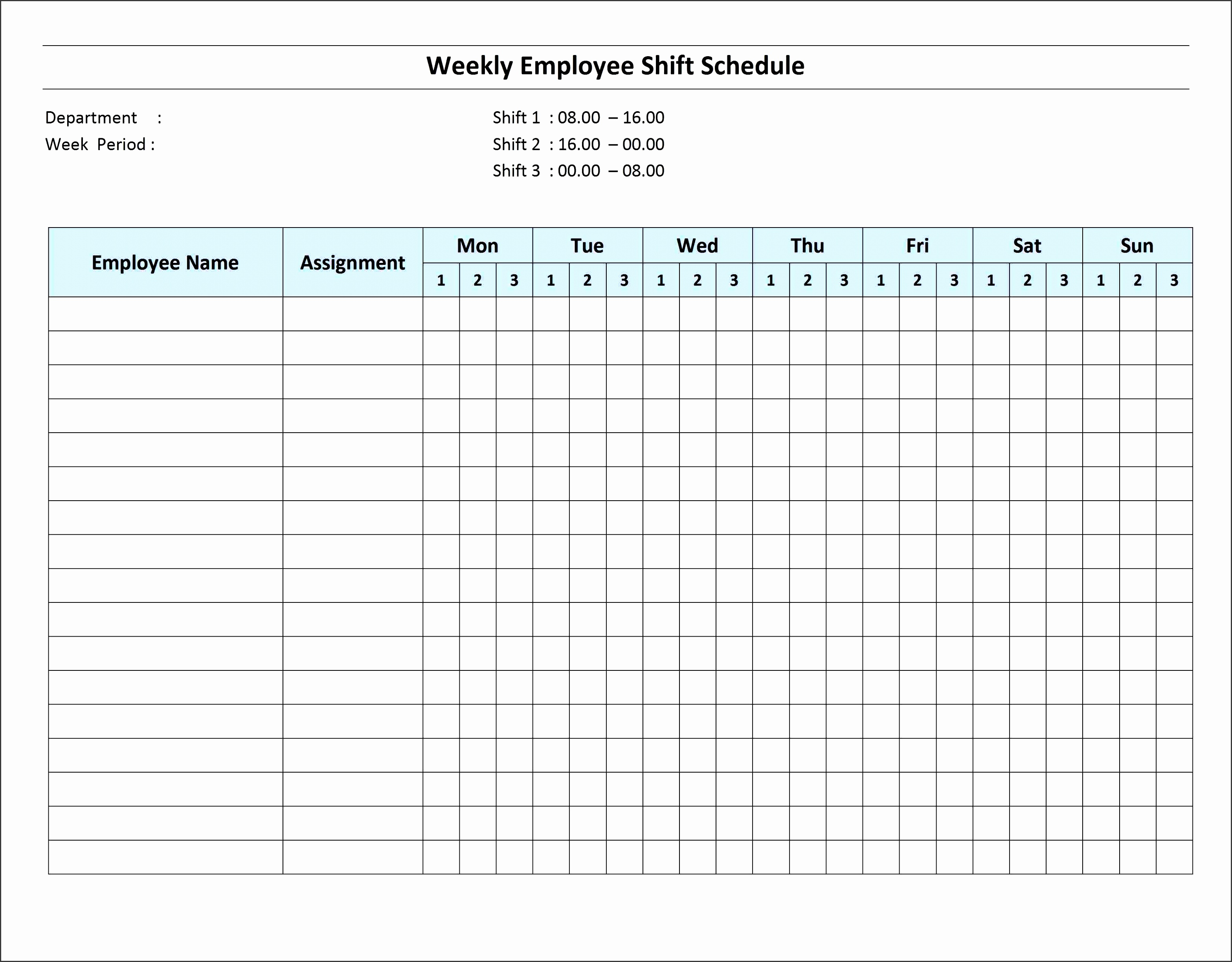 10 How To Create Daily Work Schedule In Excel