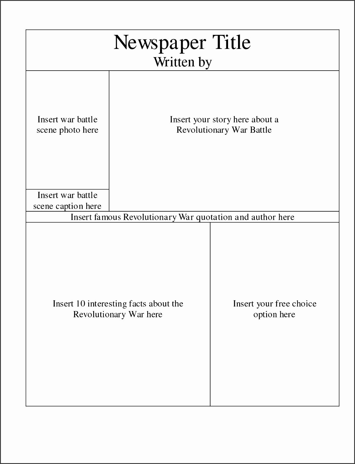 9 Newspaper Template For Free SampleTemplatess SampleTemplatess