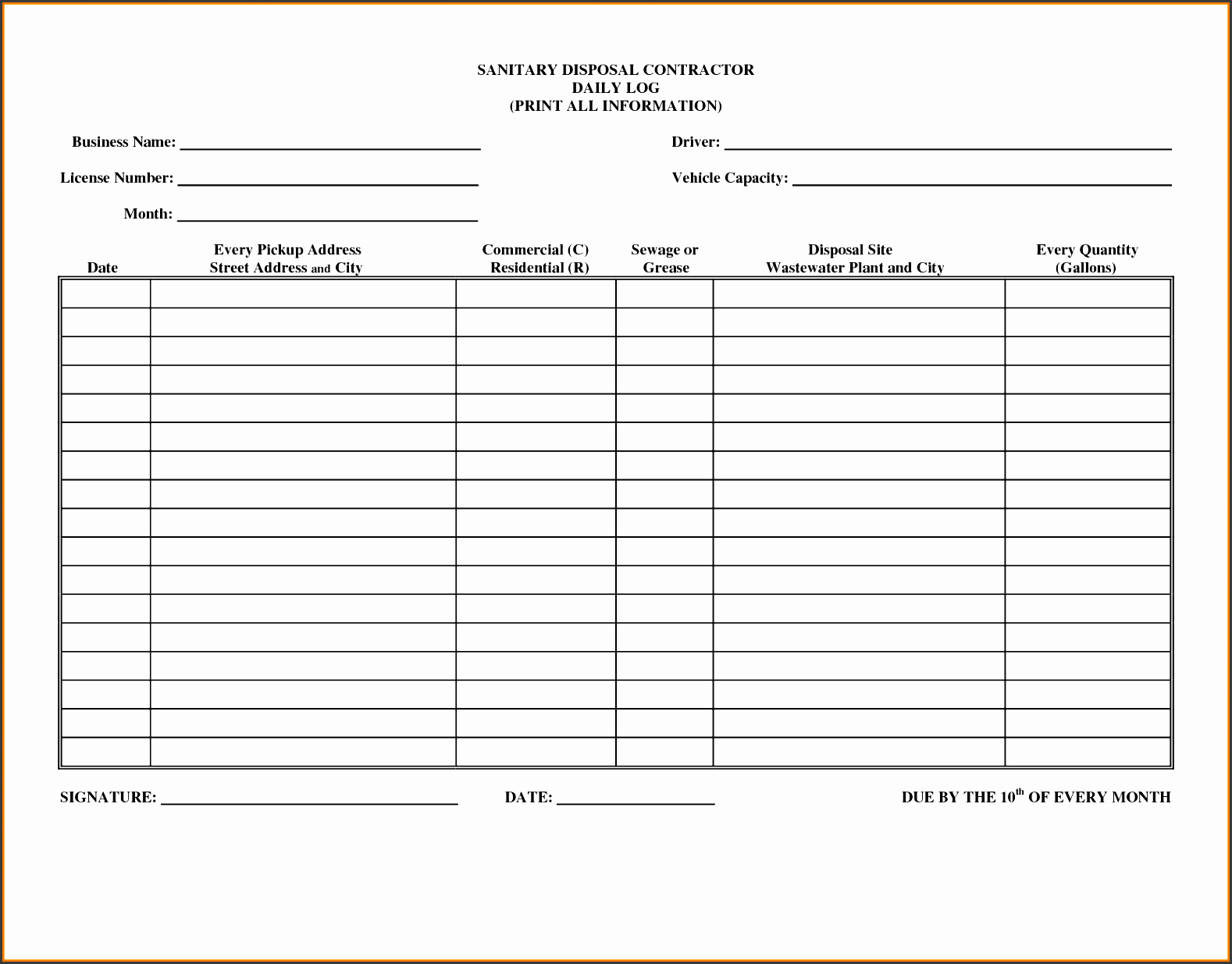 4 Online Daily Activity Log Template