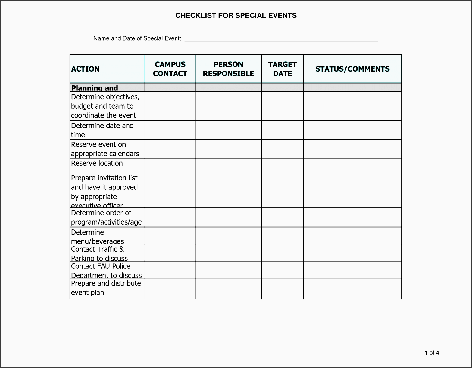 7 Printable Conference Planning Checklist