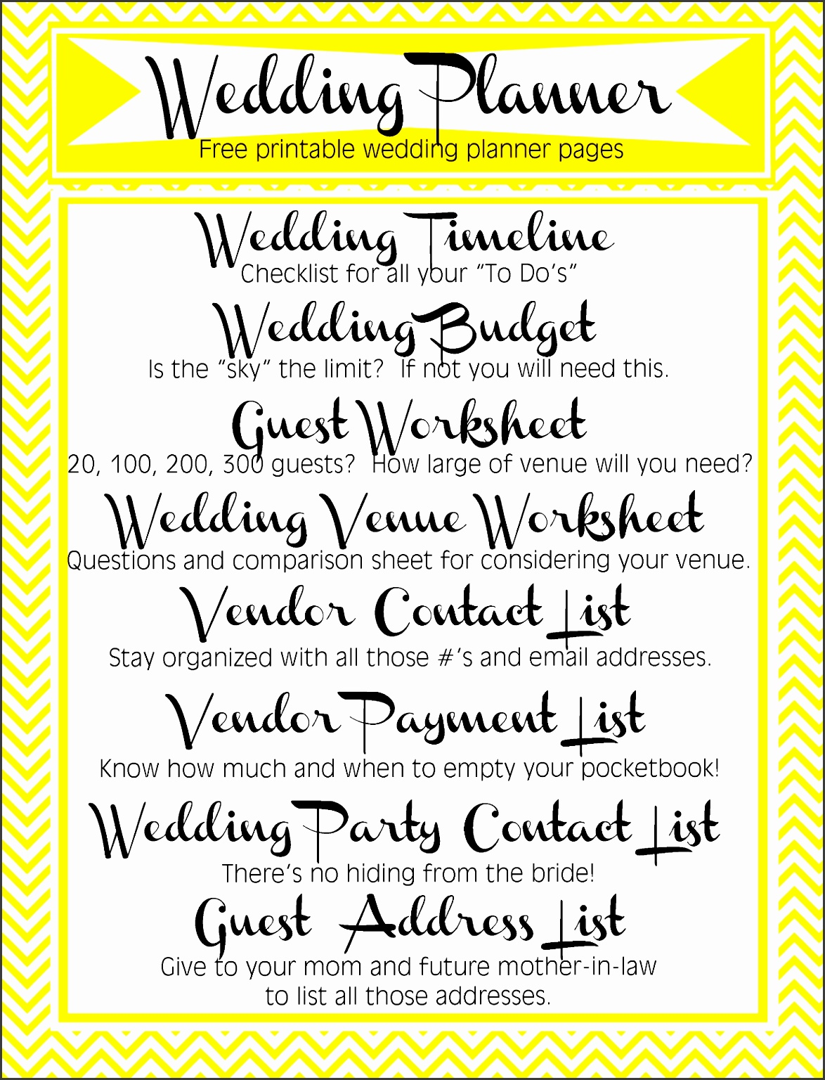 10 Printable Party Guest List Template