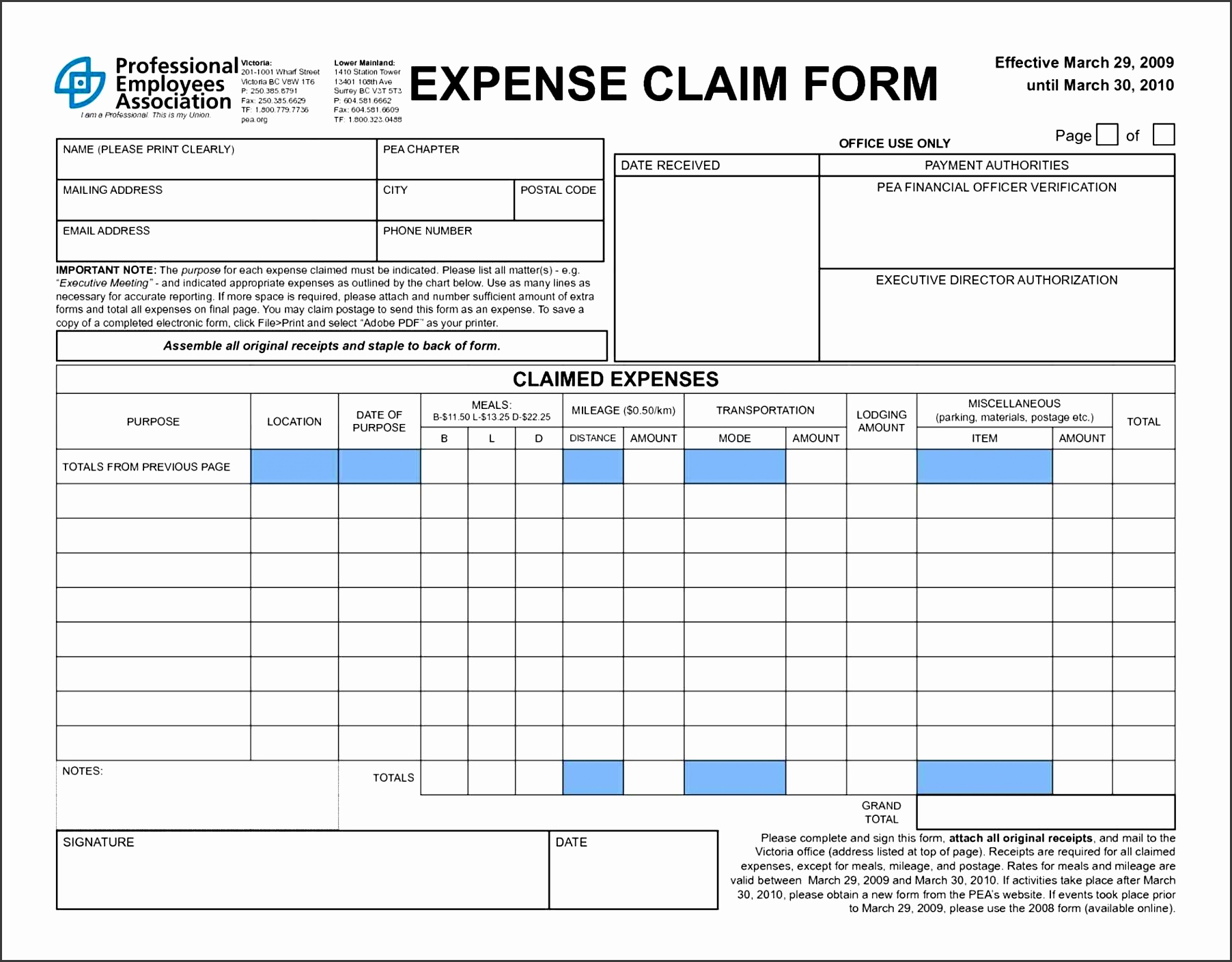 5 Simple Expense Report Template