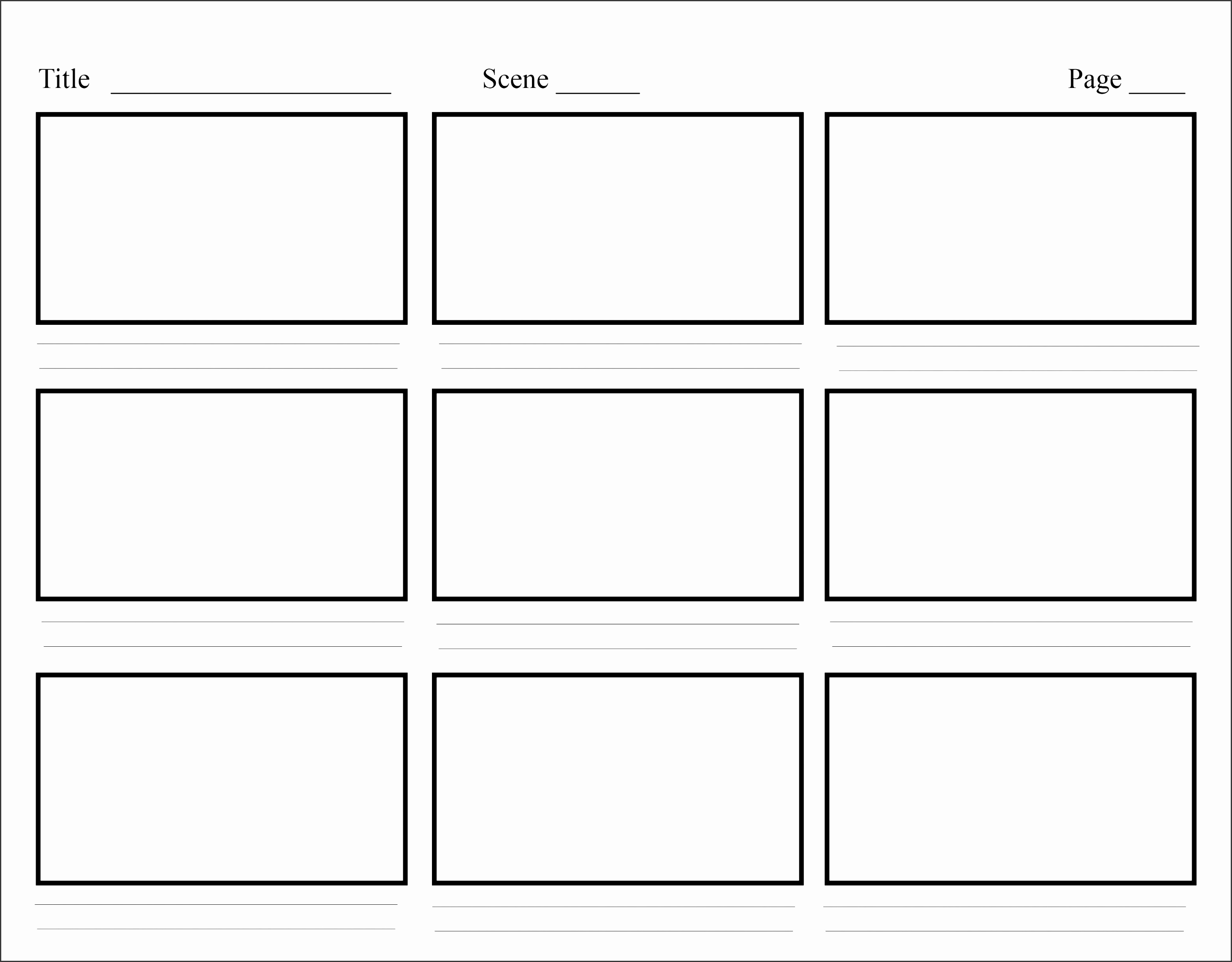 6 Storyboard Template In Word