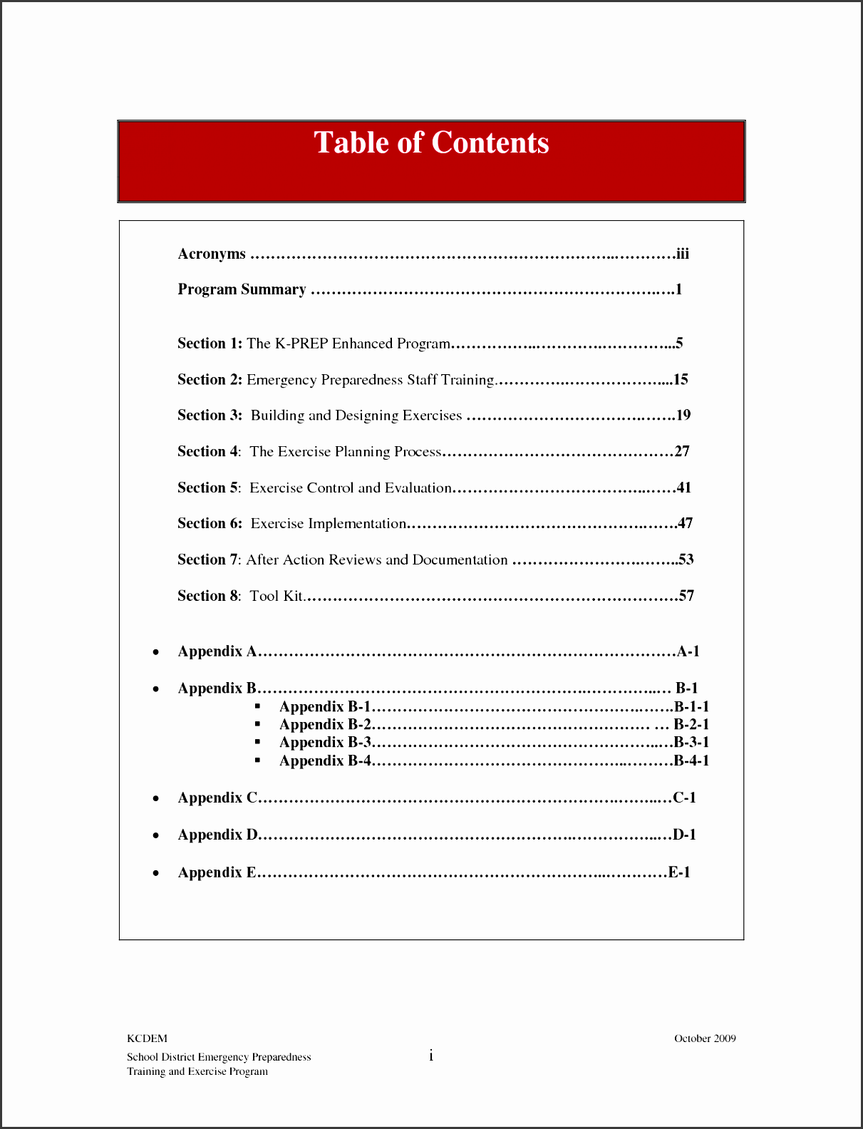 10 Table Of Contents Template For Free