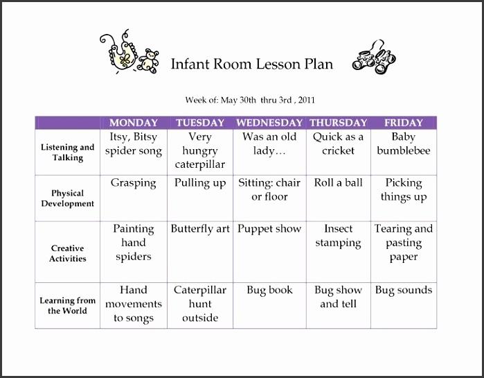 6 Creative Curriculum Preschool Lesson Plan Template SampleTemplatess SampleTemplatess