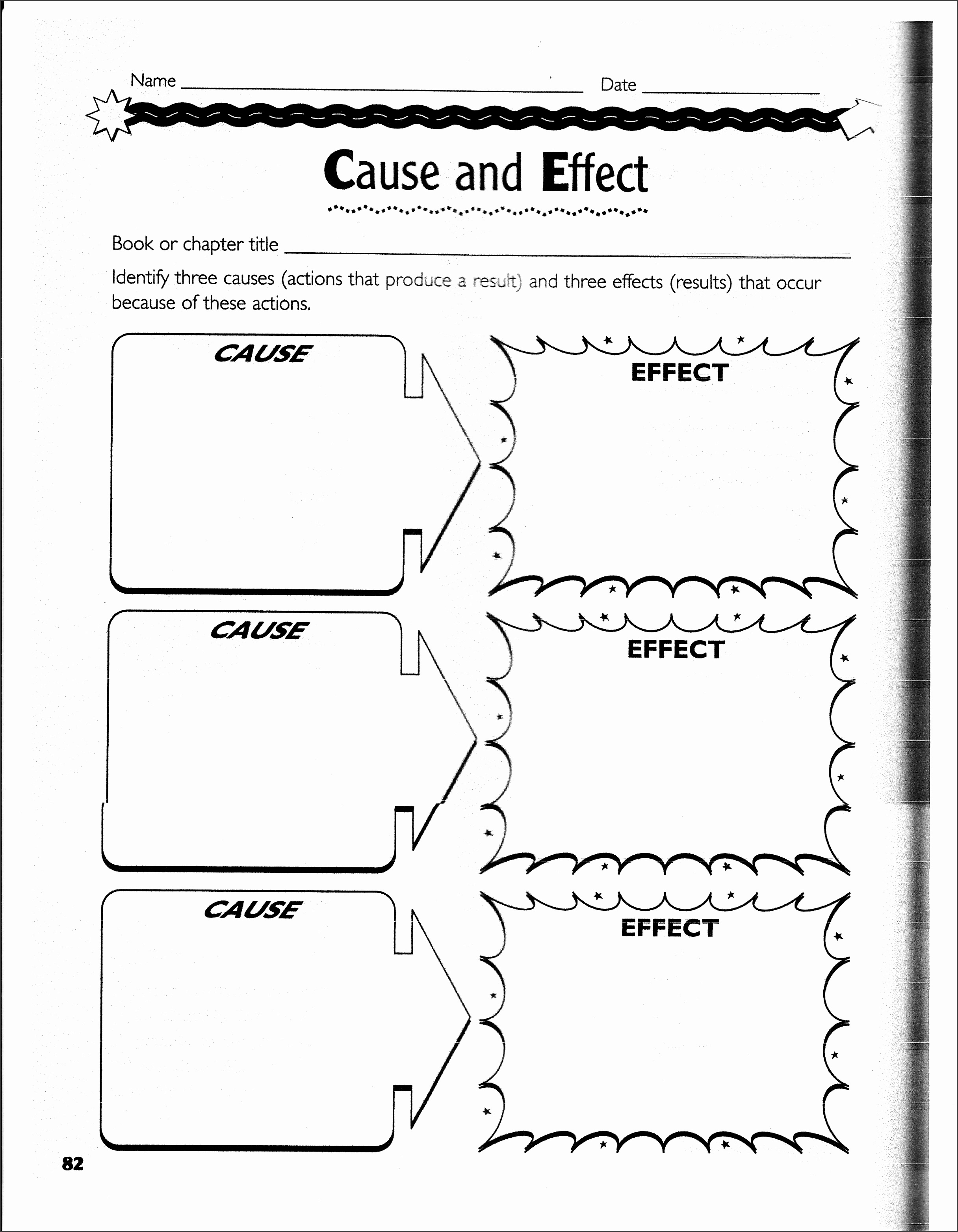 9 Cause And Effect Chart Template