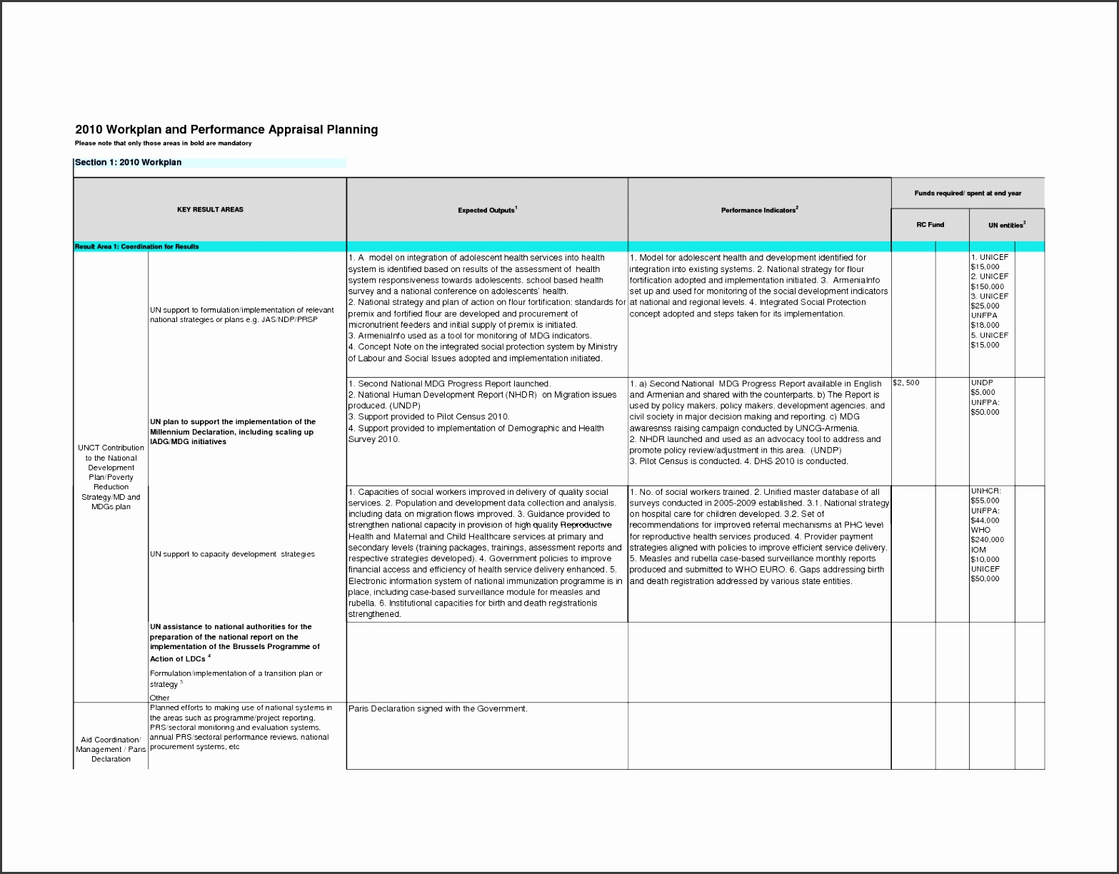 9 Performance Action Plan Template