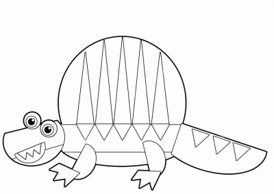 Kleurplaten Dino Masker.Kleurplaat Dinosaurus T Rex