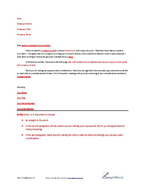 Example Business Letter Of Request