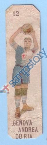 Figurina con un giocatore dell'Andrea Doria