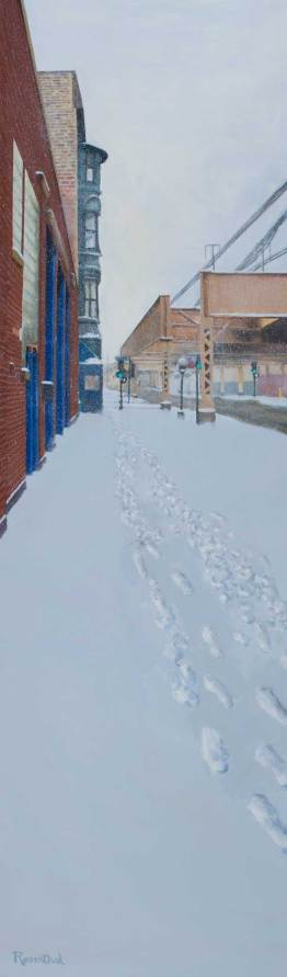 Footprints in the Snow (1400 West Lake Street, Chicago), 72 X 22