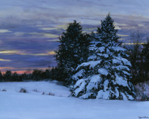 Fresh Snow at Sunset, 30 X 36, Sold