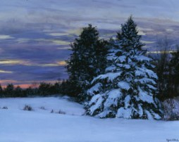 Fresh Snow at Sunset, 30 X 36, Sold