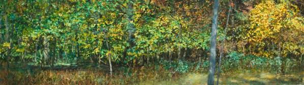 Thatcher Woods Foliage, Oak Park, IL, 24 X 84