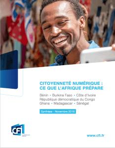 Citoyenneté numérique: ce que l'Afrique prépare. Le rapport sera disponible à partir du 22 novembre 2016.