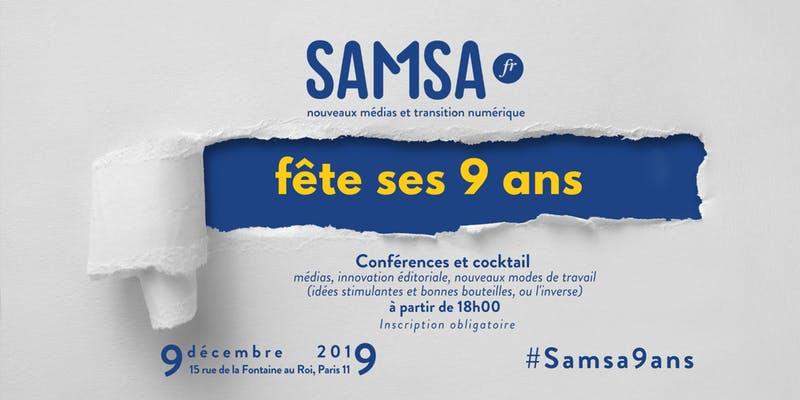 #Samsa9ans : l'anniversaire de Samsa.fr, le plein d'idées neuves
