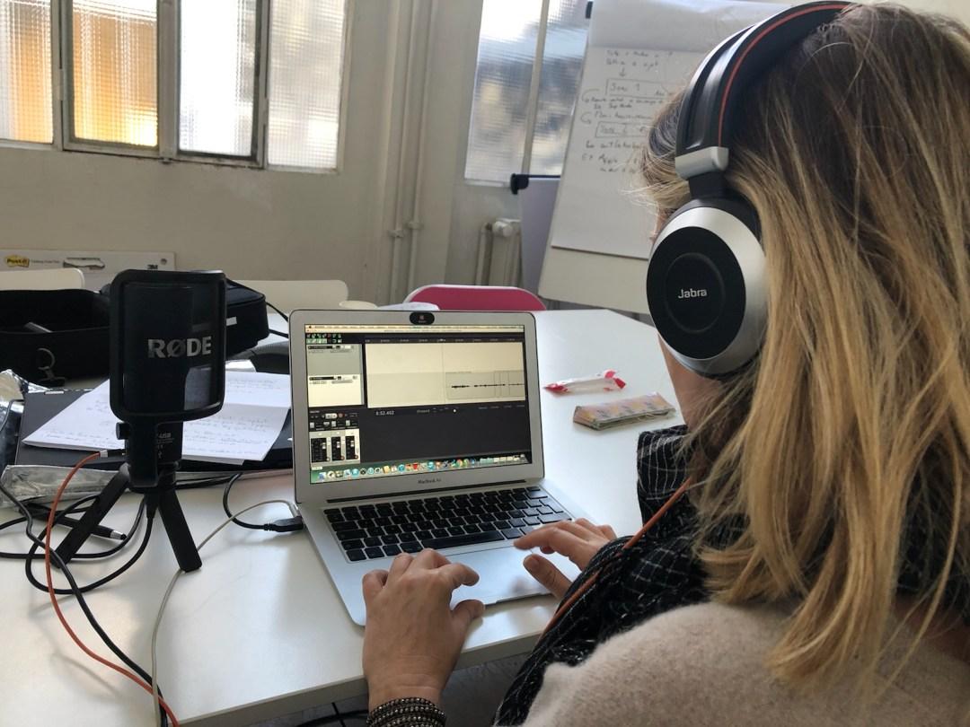 Pose de la voix en formation podcast