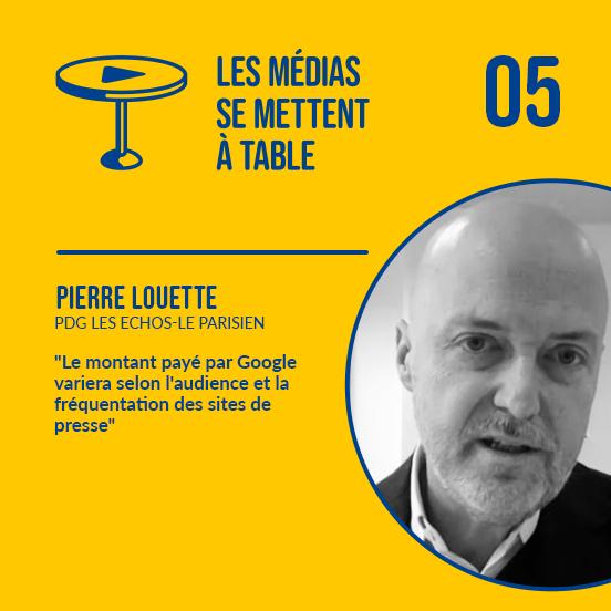 [Podcast] Pierre Louette (Le Parisien/Les Echos): «Le montant payé par Google variera selon l'audience et la fréquentation des sites de presse»