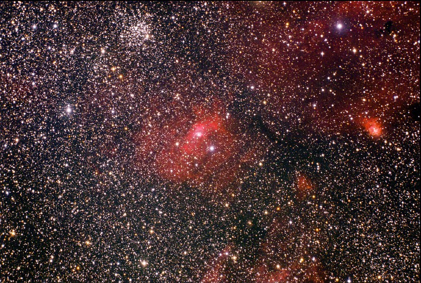 The Bubble Nebula NGC 7635 & Open Star Cluster M52