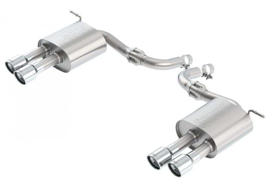 borla s type axle back exhaust system with dual split rear exit borla 11942