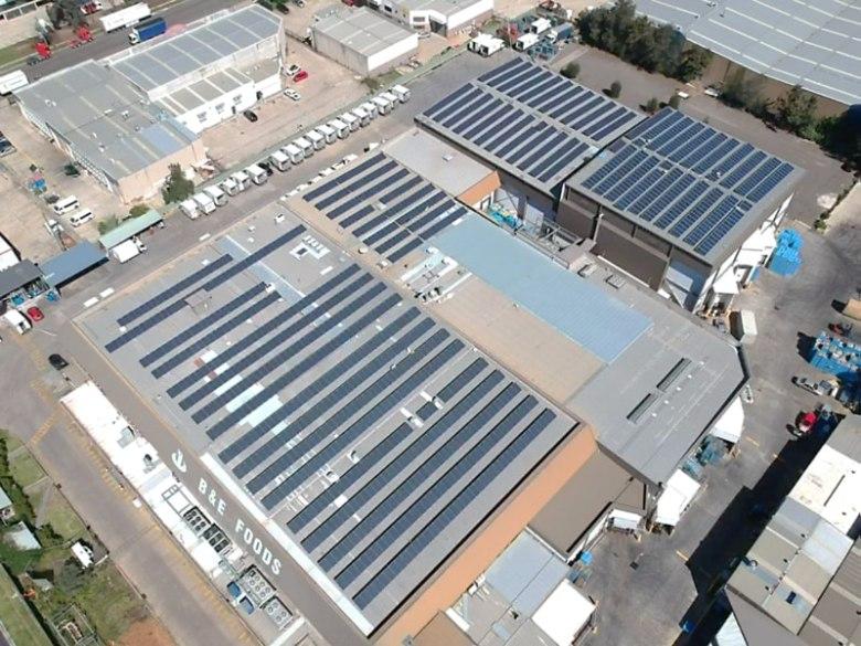 B & E Foods Blacktown NSW 400kW Solar Installation
