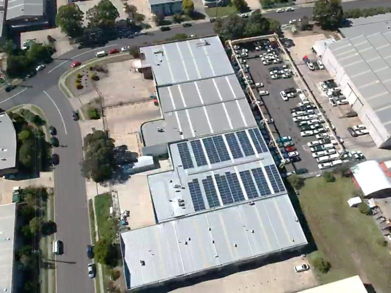 Sams Solar Power Installation Projects - B&E Foods Packaging Warehouse