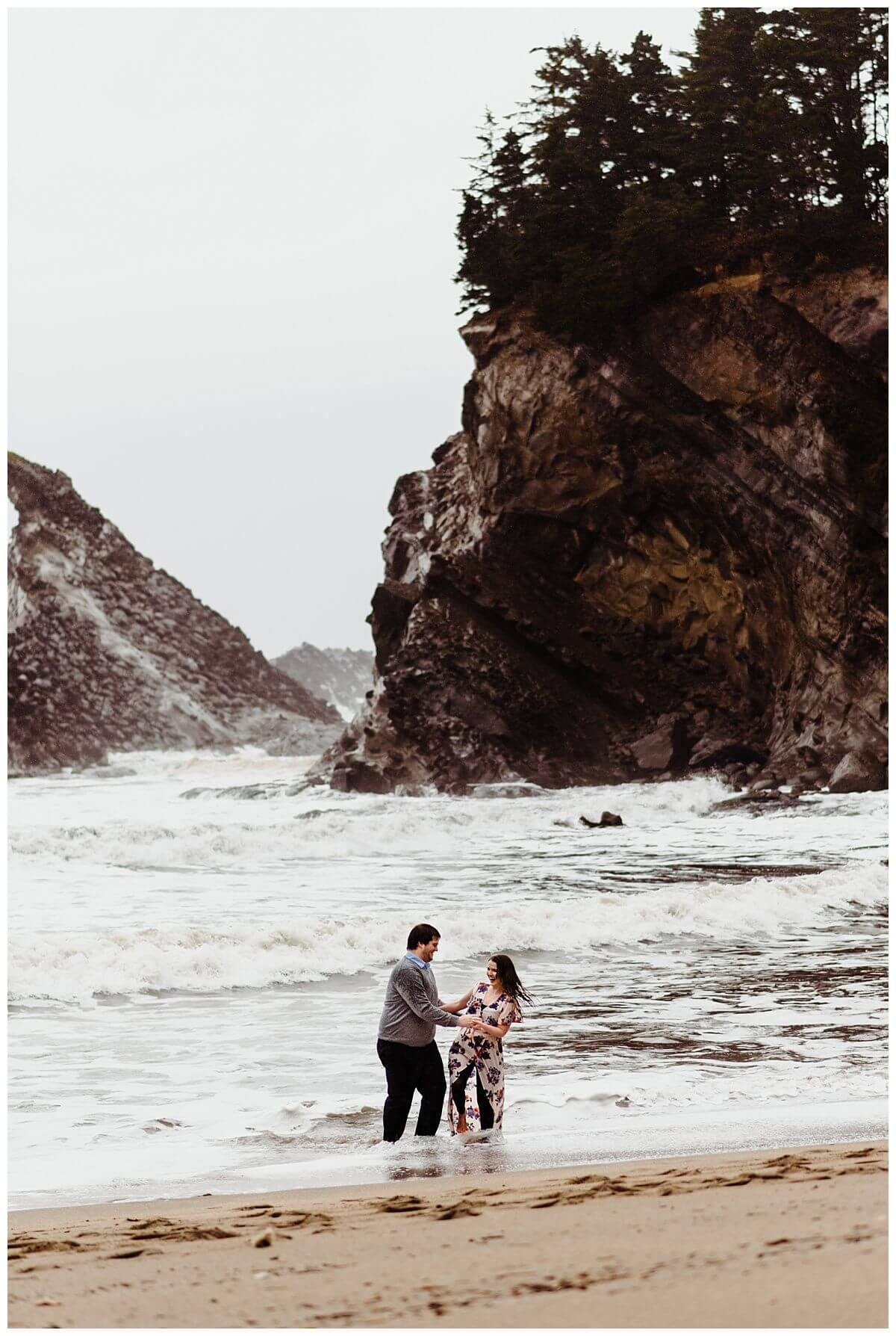 Simpson Beach Shore Acres Coos Bay Adventure Engagement Session - S Photography Intimate Weddings and Adventure Elopements