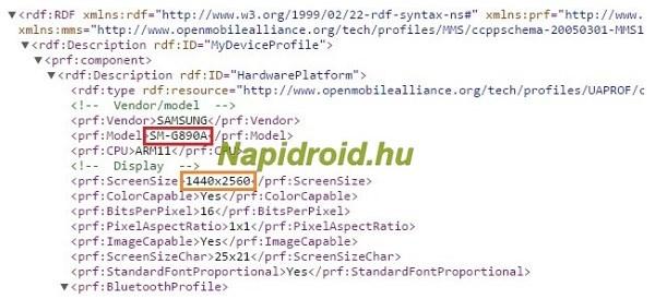 Samsung Galaxy S6 Active QHD display