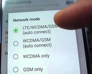 Network Mode Samsung