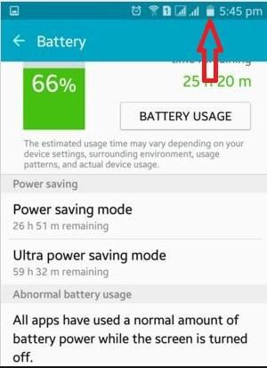Hide Battery Percentage in Notification Bar