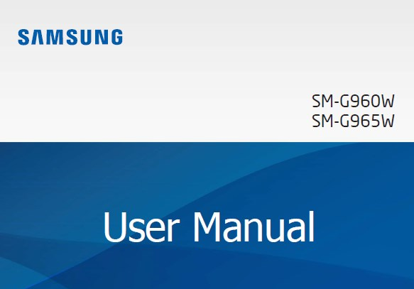 Samsung Galaxy S9 Manual Canada