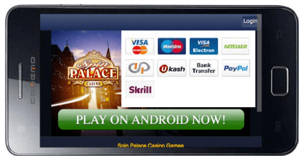 Spin Palace mobile bank