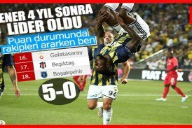 Gazişehir'e 5 atan Fenerbahçe lider oldu