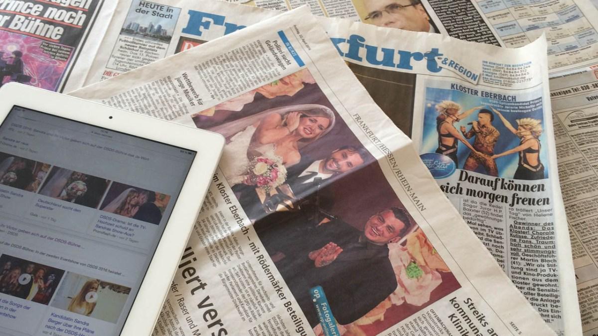 DSDS Hochzeit Pressespiegel