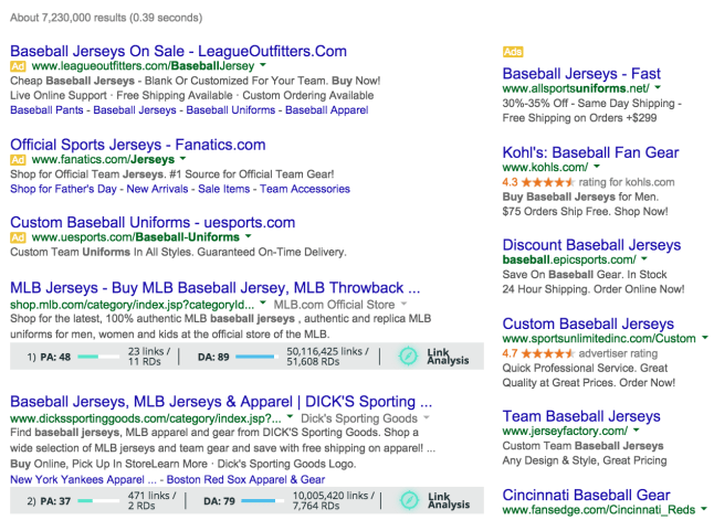 buy baseball jerseys google serp