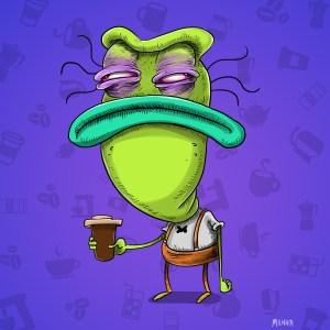 mr big head before coffee