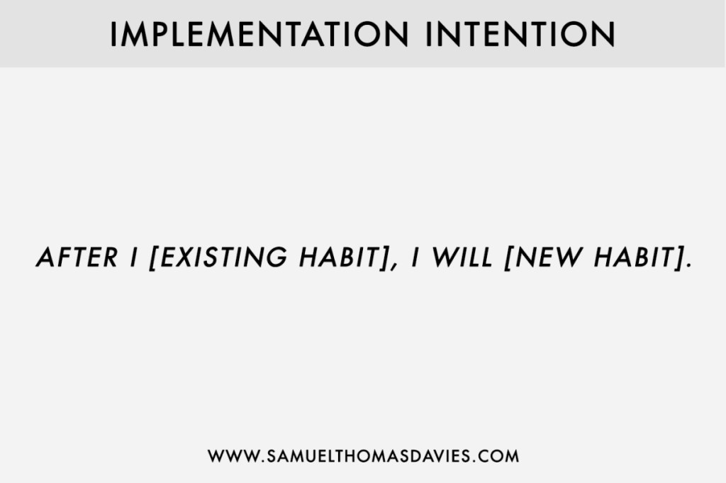 Implementation Intention