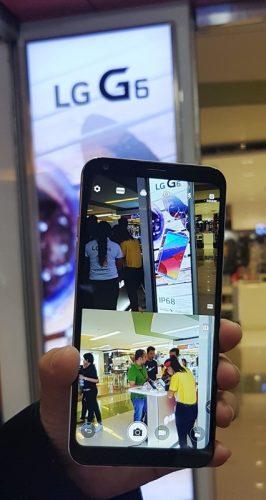 LG Q6 Big Phone in One Hand