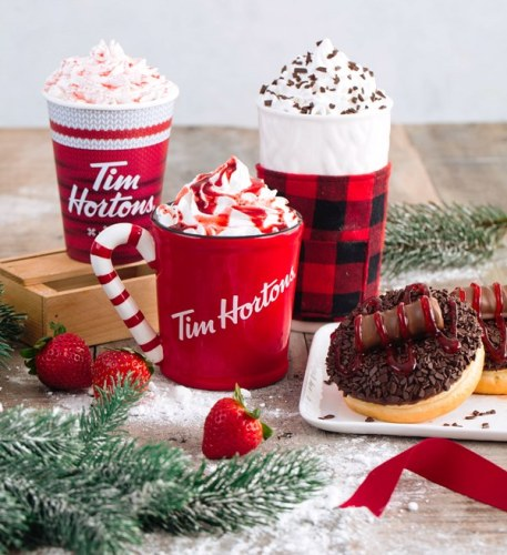 Tim Hortons Holiday Menu