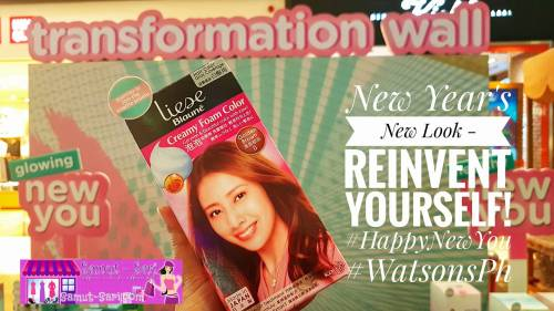 Watsons #HappyNewYou Happy New Year Liese Blaune Golden Brown