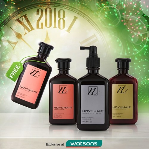 WATSONS Novuhair 3-in-1 New Year PROMO