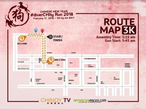 DiverCHIty 3k route map